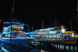 EXPOVINA, the annual wine festival in Zurich, which takes place on 12 ships on Zurich Lake