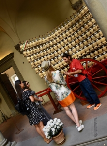 Florence Gourmet Food Tour, learning about Antinori wine
