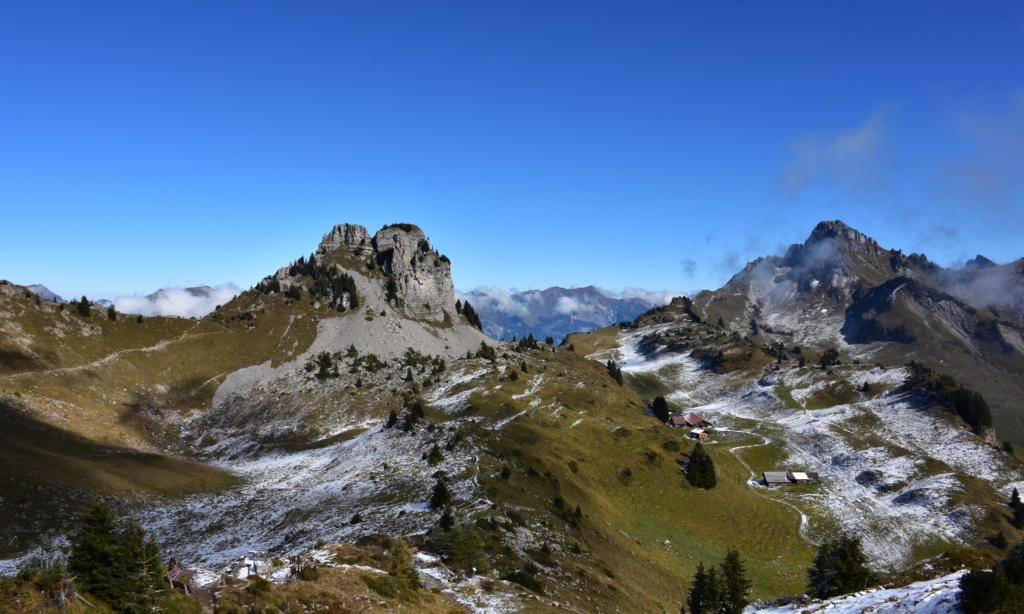 Swiss Alps - Mürren is the highest, continually inhabited