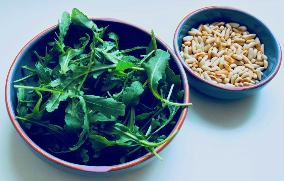 Homemade Basil-Rucola Pesto
