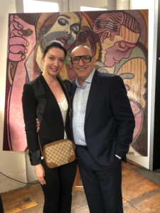 With Marc Fererro at his presentation at Smith&DeLuma