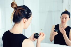 Applying Seed to Skin Cleanse gel