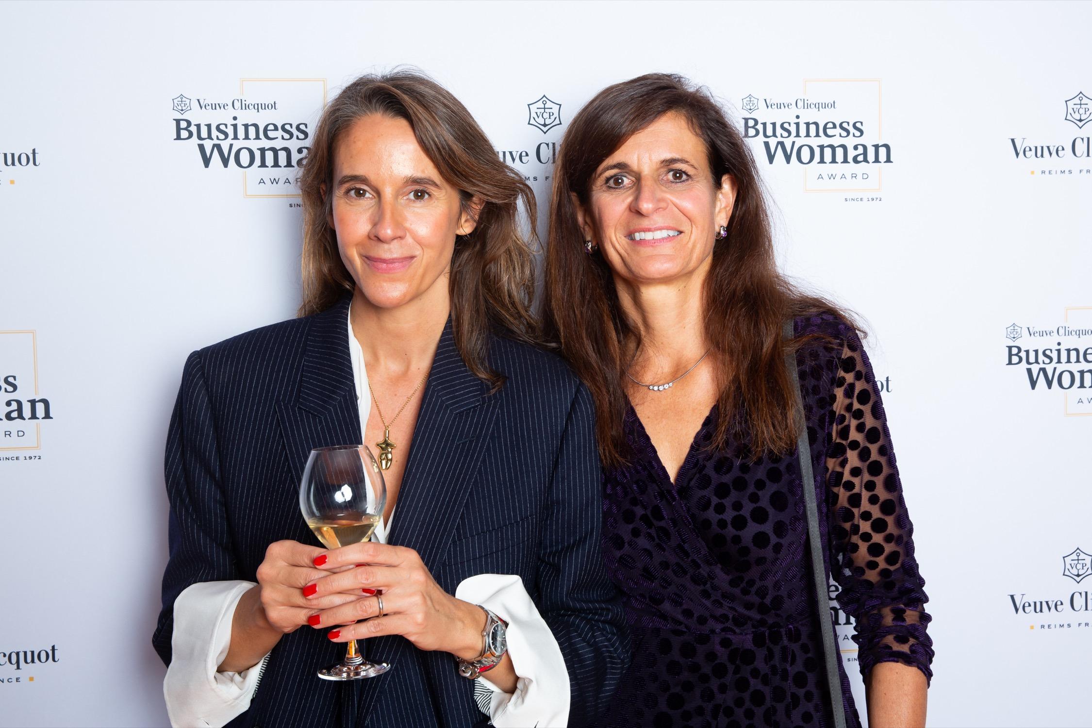 Carole Bildé and the winner of Veuve Clicquot Business Woman Award 2019 Monika Walser