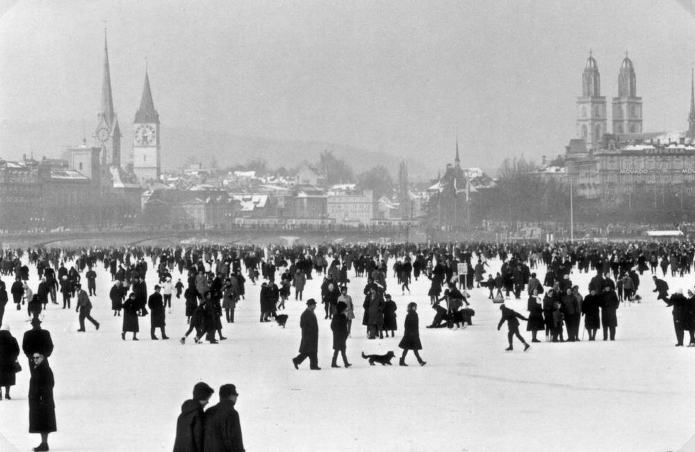 """""""Seegfrörni"""" in 1963, Zurich Lake"""
