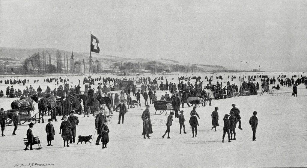 Seegfrörni, Zürichsee, 1891