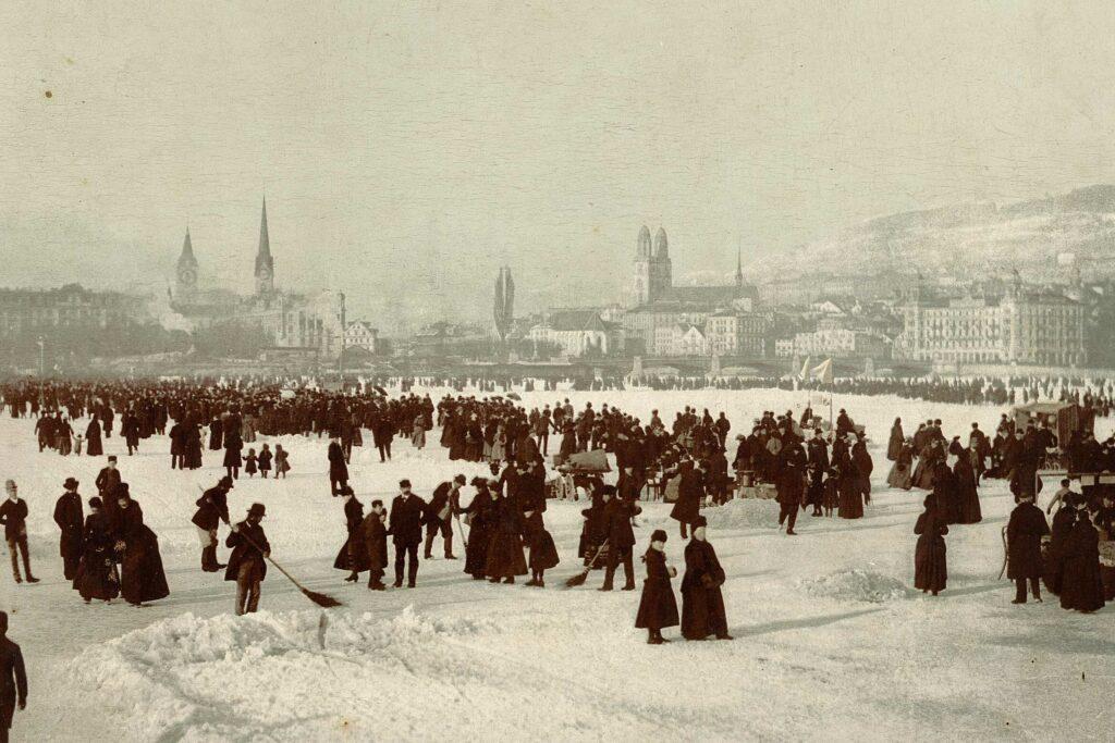 """1891 """"Seegfrörni"""" Zurich Lake"""